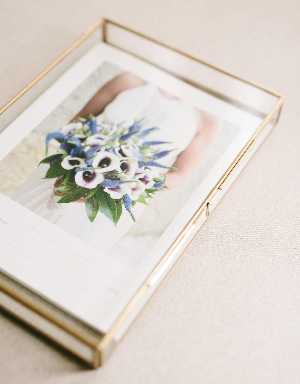 glass luxe heirloom folio box wilmington NC photographer