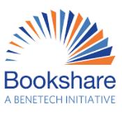 Bookshare cheat sheet