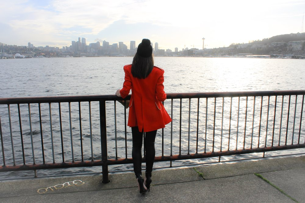 seattle-lotd-ootd-red-jacket-military