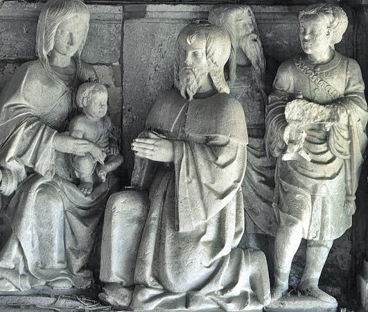 A adoração dos Magos, nicho sobre o portal sul do Mosteiro dos Jerónimos