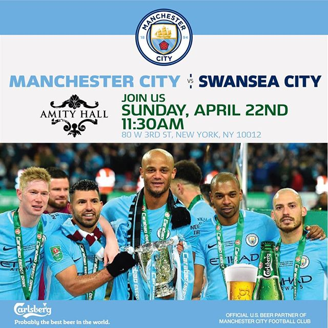 Proud to announce our first game with this brilliant club and what a game to celebrate...#newyorkskyblues #champions #manchestercity #mancity #mcfcofficial  #champions