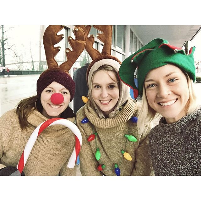 Ashleigh, Hillary & Evelyn, together again! 💕  It was a bit damp, but we had a great time repping Purpose Society at the New Westminster Santa Claus Parade!