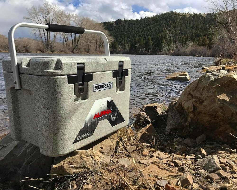 Alpha Pro Series 22 quart cooler on the Yellow Stone River Edge