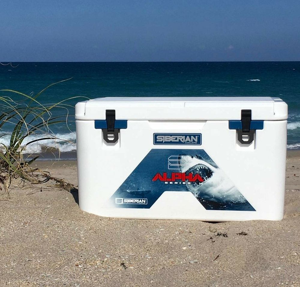Alpha Pro Series Cooler on a Florida Beach