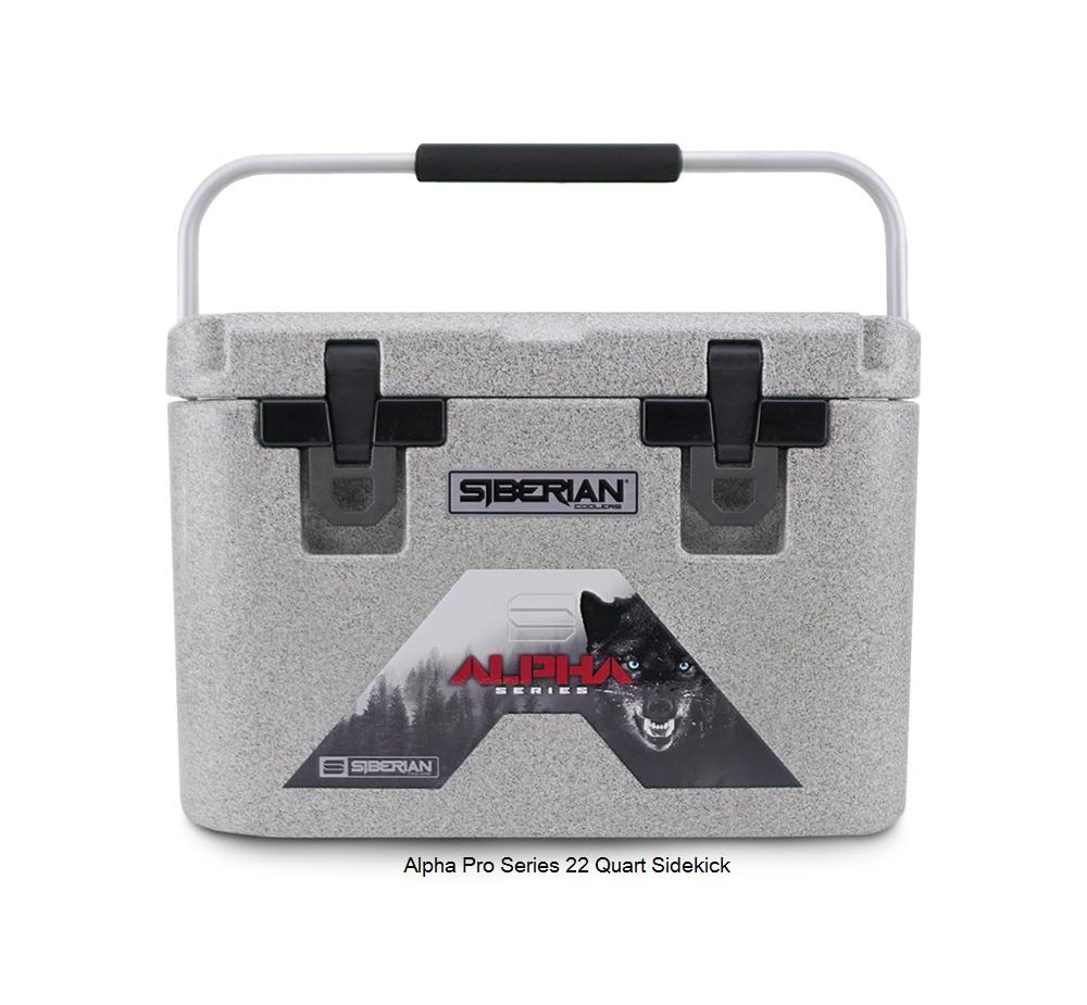 Alpha Pro Series 22 quart Cooler available in Granite, White or Sahara Tan