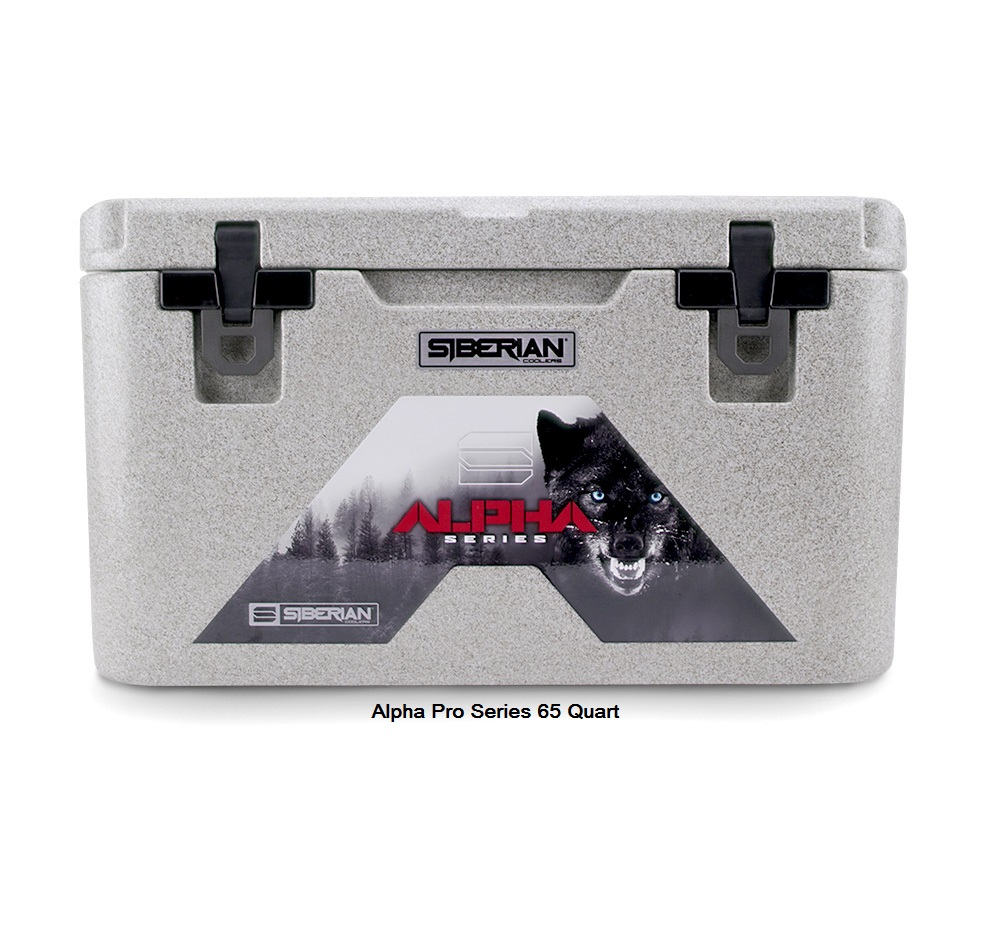 Alpha Pro Series 65 quart Cooler available in Granite, White or Sahara Tan