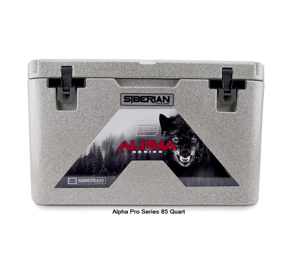 Alpha Pro Series 85 quart Cooler available in Granite, White or Sahara Tan