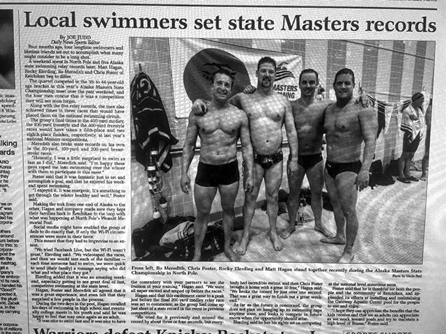 Congrats to Bo and the gang for swimming 8 events and taking home 8 new state records! (5 relay & 3 individual for Bo). It was a Quick turn around for Bo, finishing 18.1 then hopping on a plane the same night to the swim grounds in North Pole, Alaska.  Bo is also competing in the 5 week CrossFit Open in the 40-44 year old Masters category! - - - #dadbod #oldmanstrength #swimming #18point1 @crossfit #crossfitmasters #crossfitopen