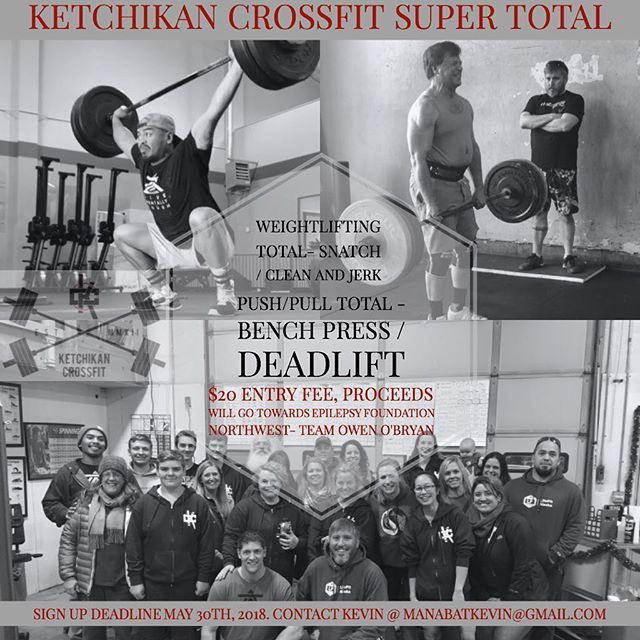 Don't forget to sign up!! Come lift heavy and have fun for a great cause!  Saturday, June 2nd @ 10am - - - - #ketchikan #alaska #crossfit #weightlifting #powerlifting #epilepsy #epilepsyawareness