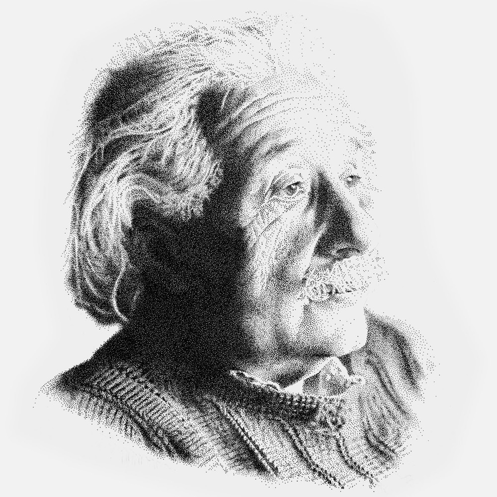 einstein_stippling