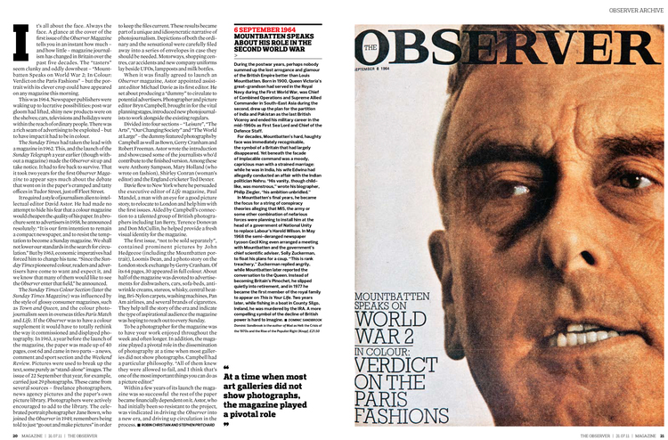 In the Beginning , The Observer Magazine (2011)