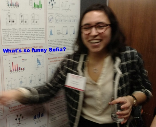 Sofia at the Vincent du Vigneaud Research Symposium!