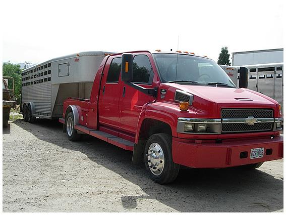 Red Truck w/ Trailer