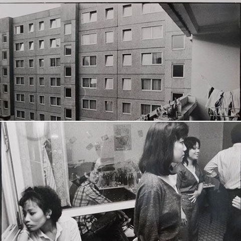 Asylum for Vietnamese workers in Leipzig Grünau in 1985.