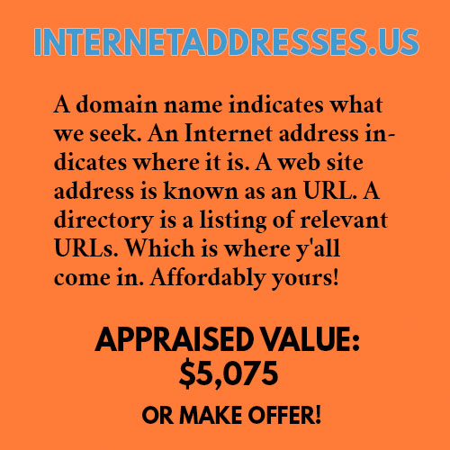 INTERNETADDRESSES.US