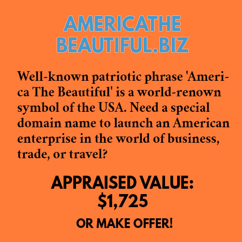 AMERICATHEBEAUTIFUL.BIZ