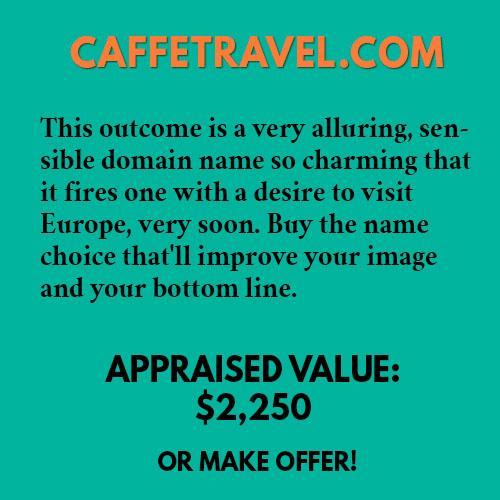 CAFFETRAVEL.COM