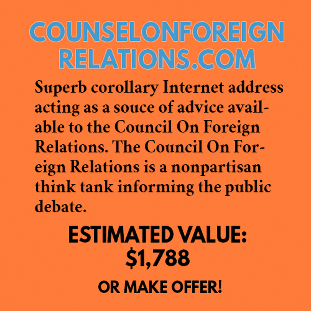 COUNSELONFOREIGNRELATIONS.COM