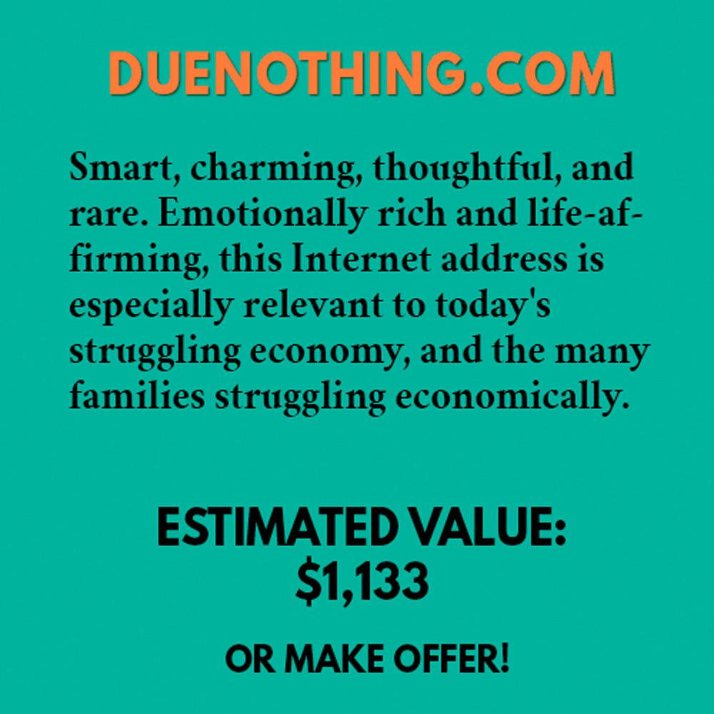 DUENOTHING.COM