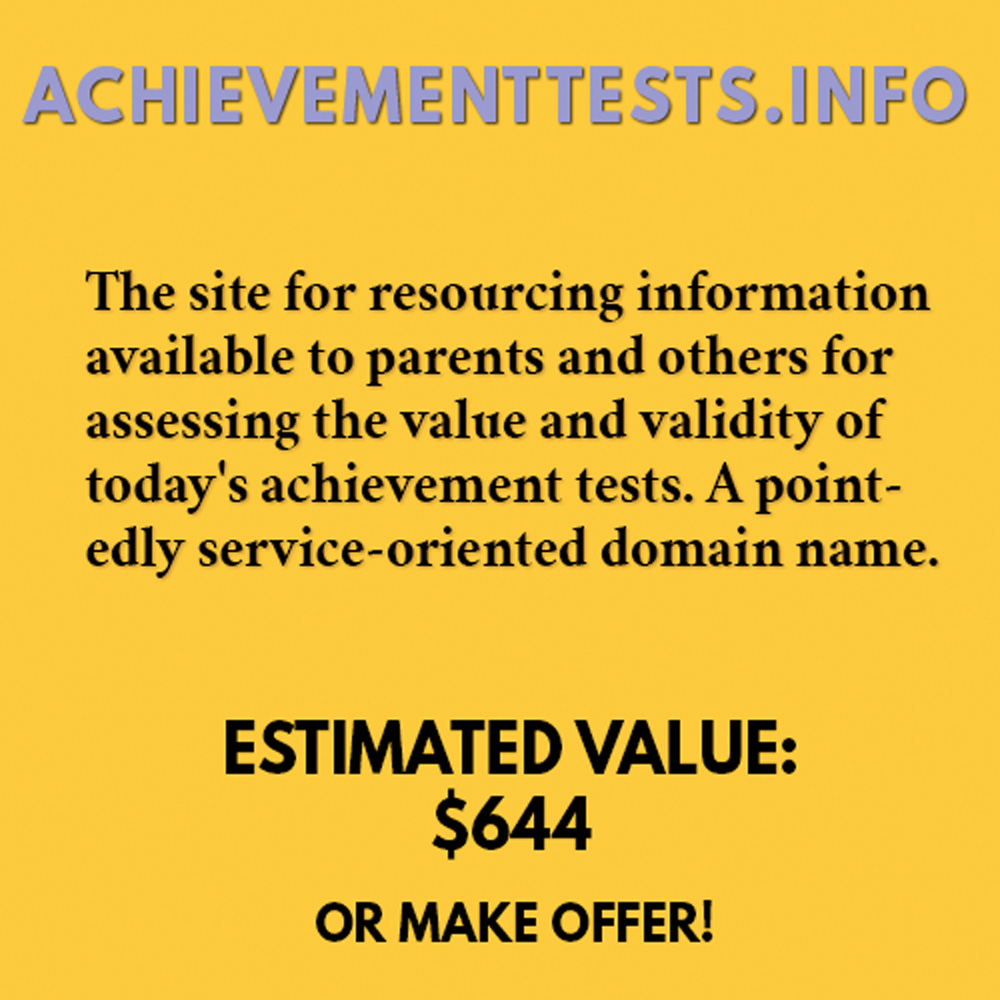 ACHIEVEMENTTESTS.INFO