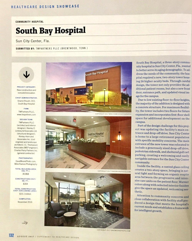 Copy of South Bay Hospital for Healthcare Design Magazine