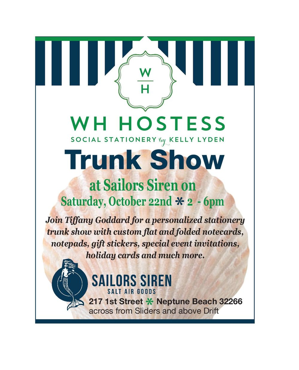 Stationary Trunk Show at Sailors Siren