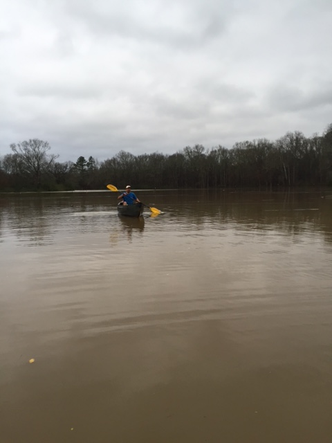 Farmers at the Rise N' Shine Farm attempted to reach their crops by canoe