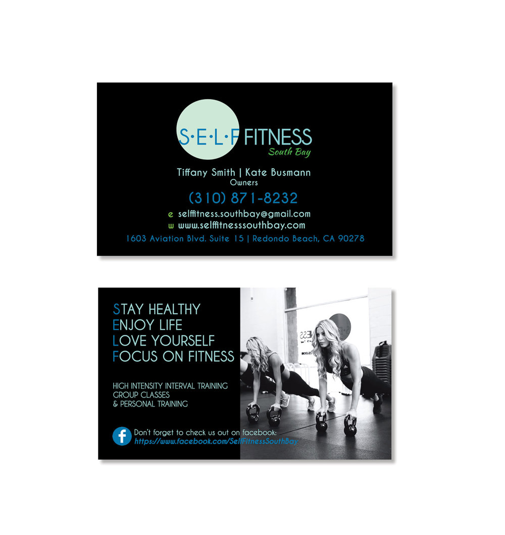 SELF Fitness ELSA CASTAÑEDA - Personal trainer business card template