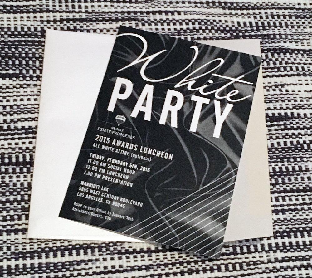 RE/MAX White Party Invite