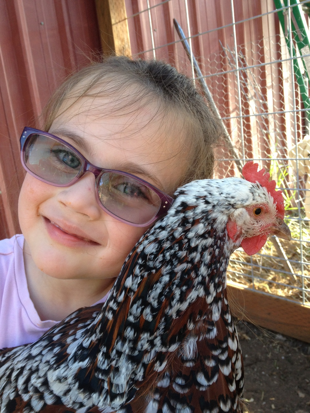 Eleanor and Pepper the hen.