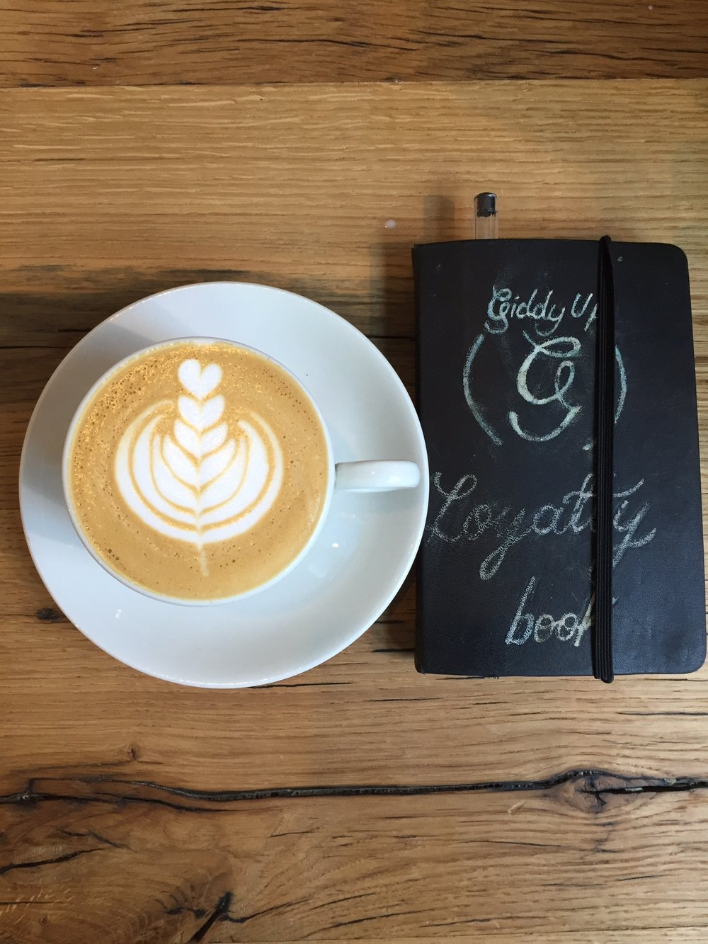 Love to our loyal customers - Tick off each coffee you buy in our loyalty book and get your 10th one on us