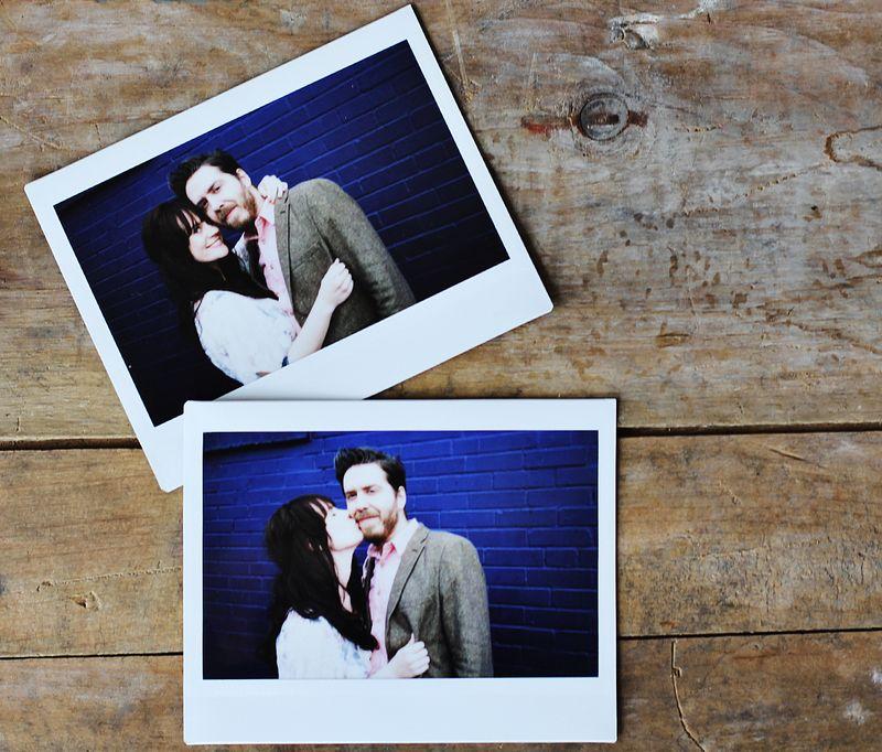Polaroids of couple