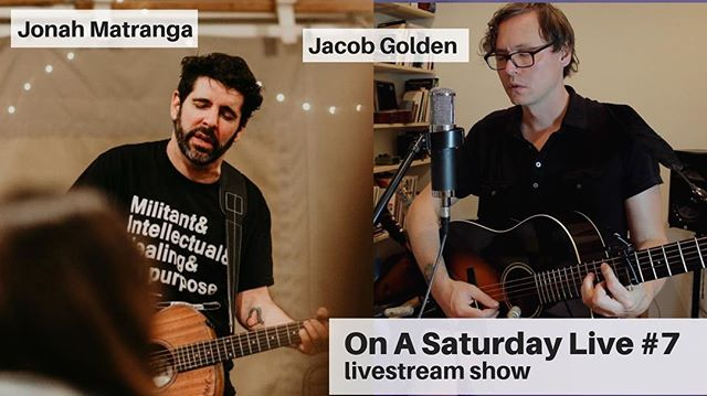 Today's gonna be ✨✨. I'll be singing on fb live and joined by one of my musical hero's @jonahmatranga come say hello! The show is at 10am PDT / 5pm GMT link in bio ✨✨🤘#onasaturdaylive #7 #jonahmatranga #far #sacramentomusicians #jacobgoldenlive