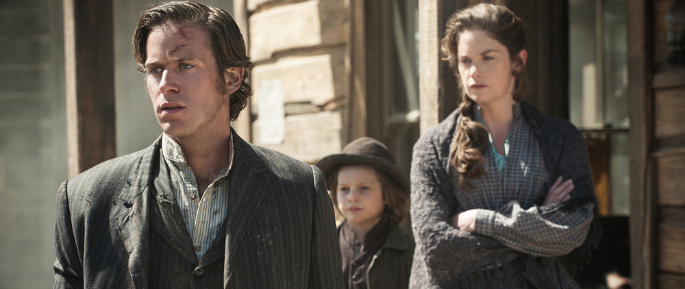 Armie Hammer and Ruth Wilson in The Lone Ranger