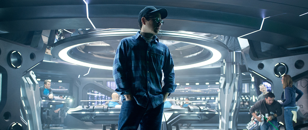 JJ Abrams on the set of  Star Trek: Into Darkness (2014)