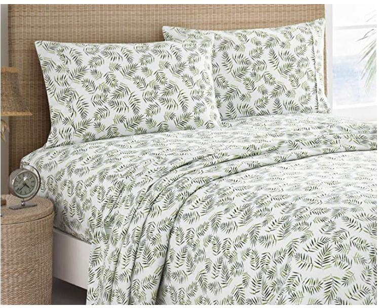Caribbean Joe Palm Bedding Sheet Set