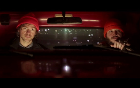 Aaron Dessner (left) and Justin Vernon (right) appear in a promotional video for Eaux Claires