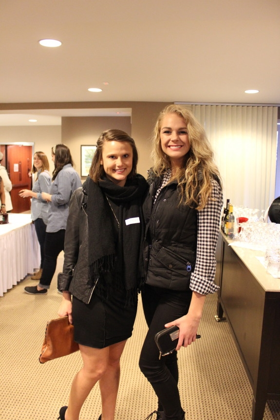 Editor in Chief Anna Fuller with Branding Director Lexie Miedema
