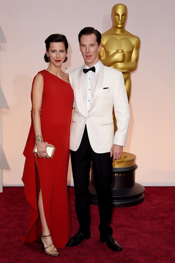 BEST COUPLE: Benedict Cumberbatch and Sophia Hunter in Lanvin