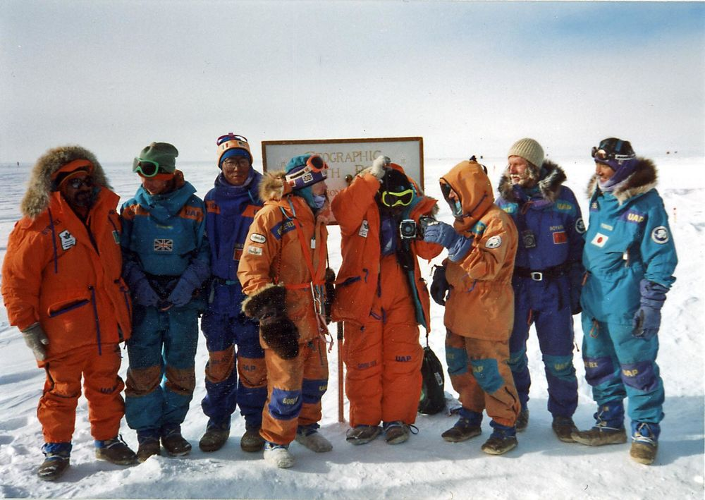 The 1990 Trans-Antarctic Expedition (image courtesy of southpolestation.com).