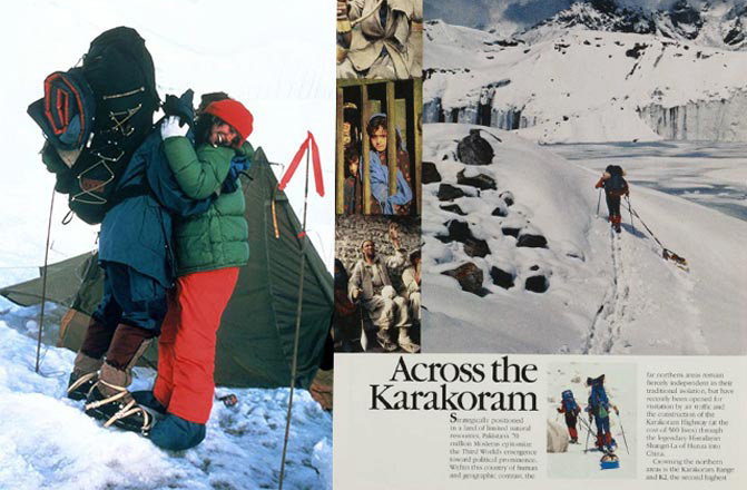 A down jacket in more extreme use: The North Face-sponsored Annapurna expedition, 1978 (image courtesy of  thenorthface.eu ).