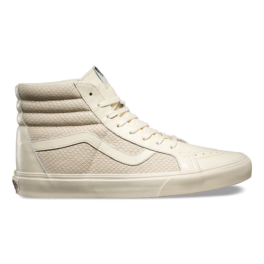 Vans Women Leather Sk8 Hi Mid Hi Snake Reissue shoes shoes Extremely Well For The Brand