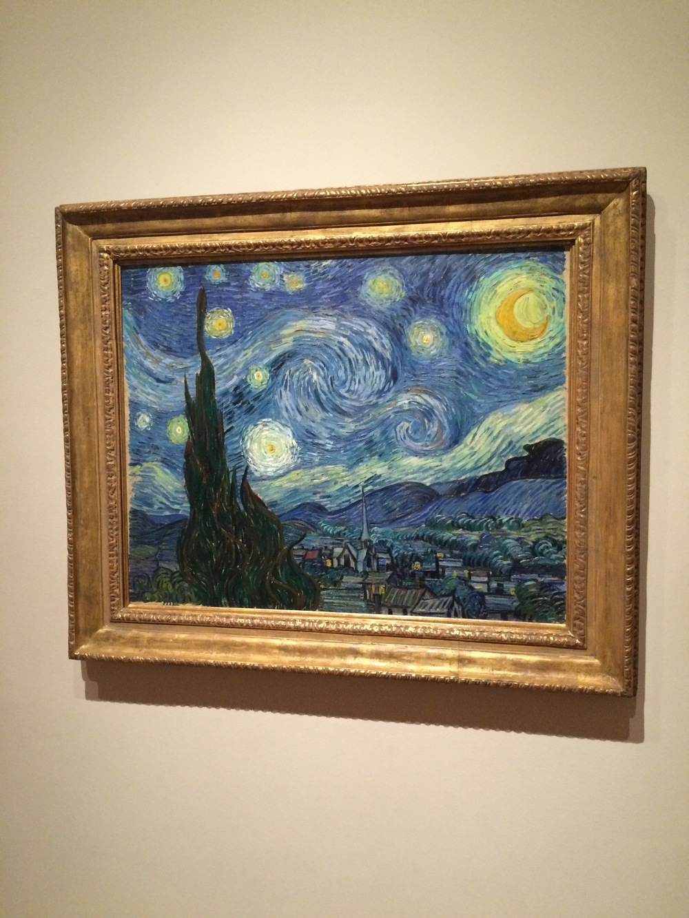 """Wait...thats not the real one, is it?""  But yes, indeed. Vincent Van Gogh's ""Starry Night"" is among the pieces on display at MoMA. Simply breathtaking."