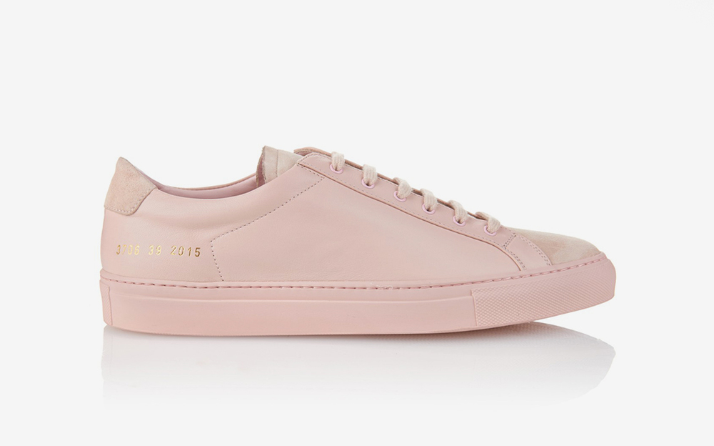 Dream shoe: Achilles Premium Low in Blush from Woman by Common Project.