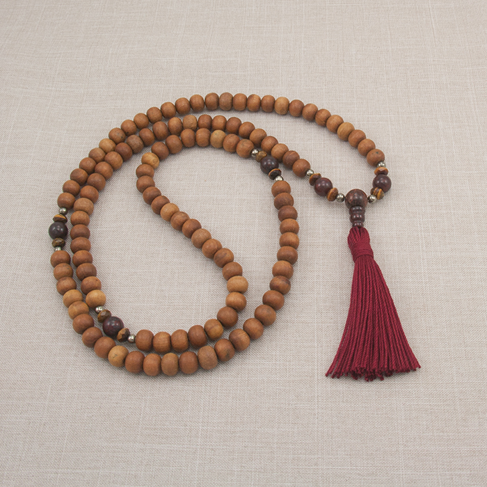The Sandalwood Jasper Mala ($48, from Golden Lotus)