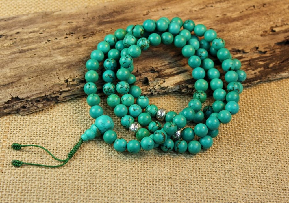 Turquoise Mala ($67, from Dharma Shop)