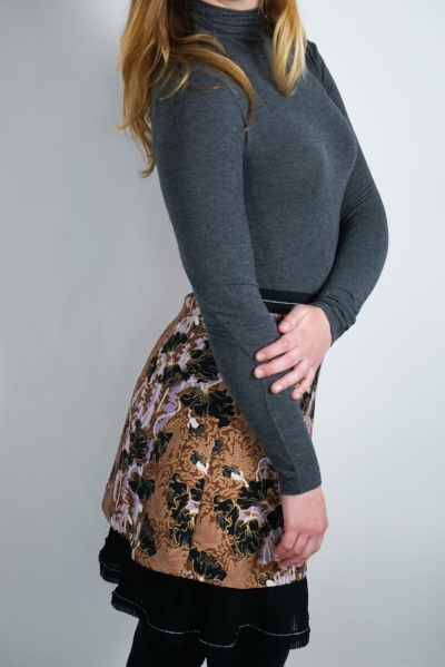 Author's own sweater, Carven skirt
