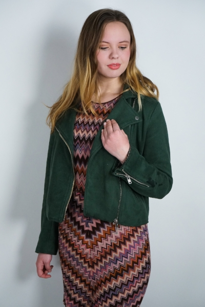 Photographs by Samantha Plouff   Missoni dress,  Modcloth jacket