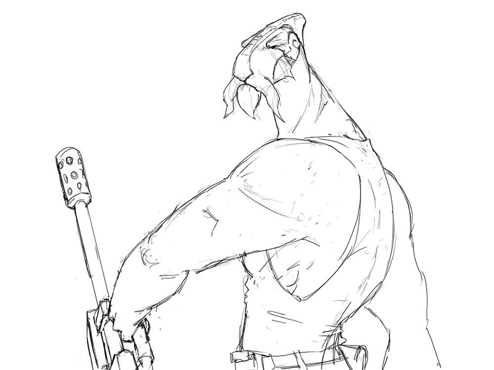 Scandor Clunger, infamousmercenaryand one of the last remaining Mibuntuans.