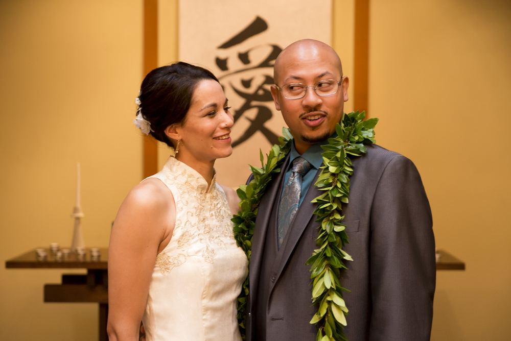 My husband, Glenn, and I celebrating our wedding day back in 2014!